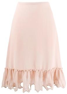 See by Chloé embellished hem skirt