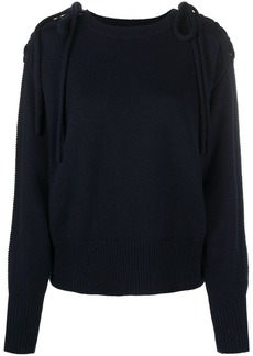 See by Chloé embroidered chain detail jumper