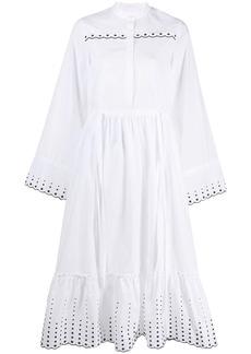 See by Chloé embroidered poplin midi dress