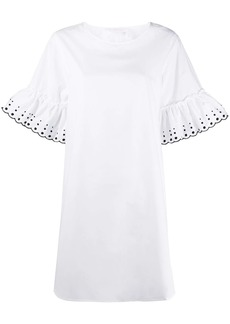 See by Chloé embroidered-dots mini dress