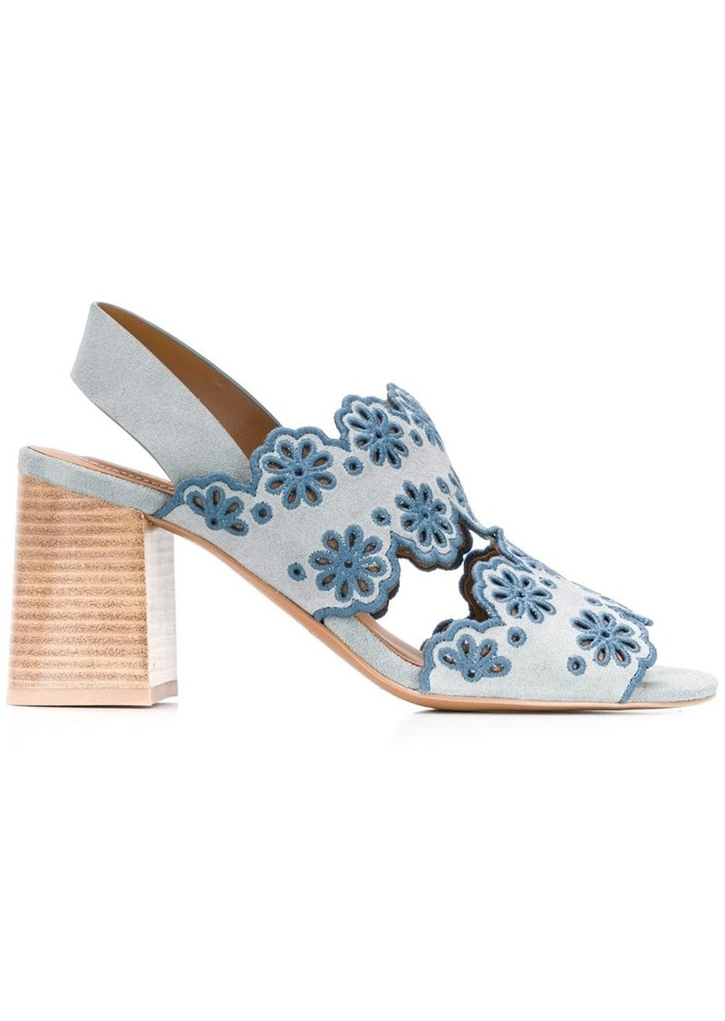 See by Chloé embroidered floral sandals