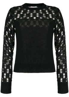 See by Chloé embroidered long-sleeve jumper