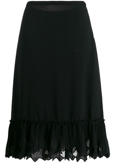 See by Chloé embroidered midi skirt