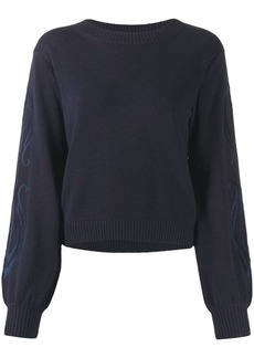 See by Chloé embroidered-sleeve sweater