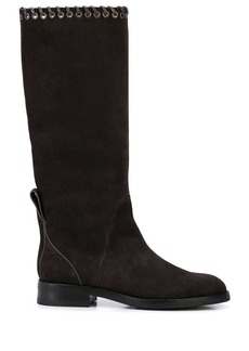 See by Chloé eyelet trim boots