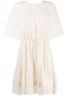 See by Chloé fil coupé drawstring-waist dress