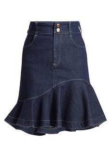 See by Chloé Flare Denim Skirt