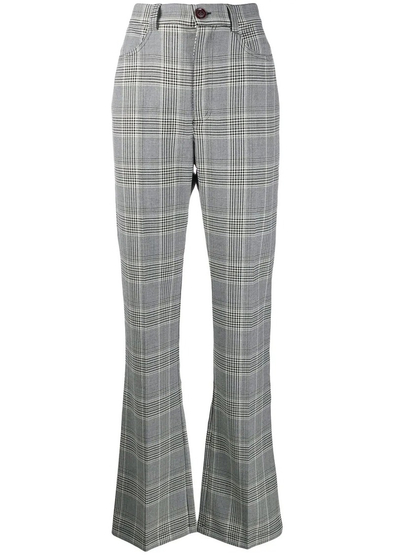 See by Chloé flared check trousers