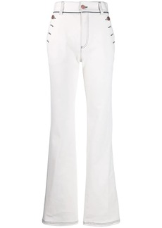 See by Chloé flared high waisted jeans