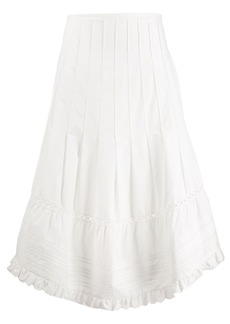 See by Chloé flared midi skirt