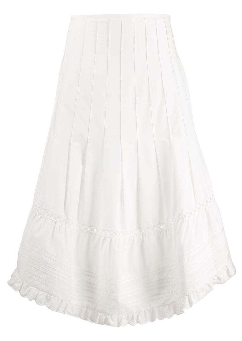 See by Chloé flared midi skirt