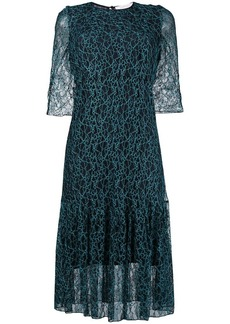 See by Chloé flared patterned dress