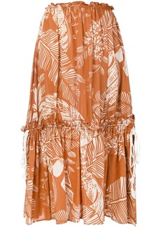 See by Chloé flared patterned skirt