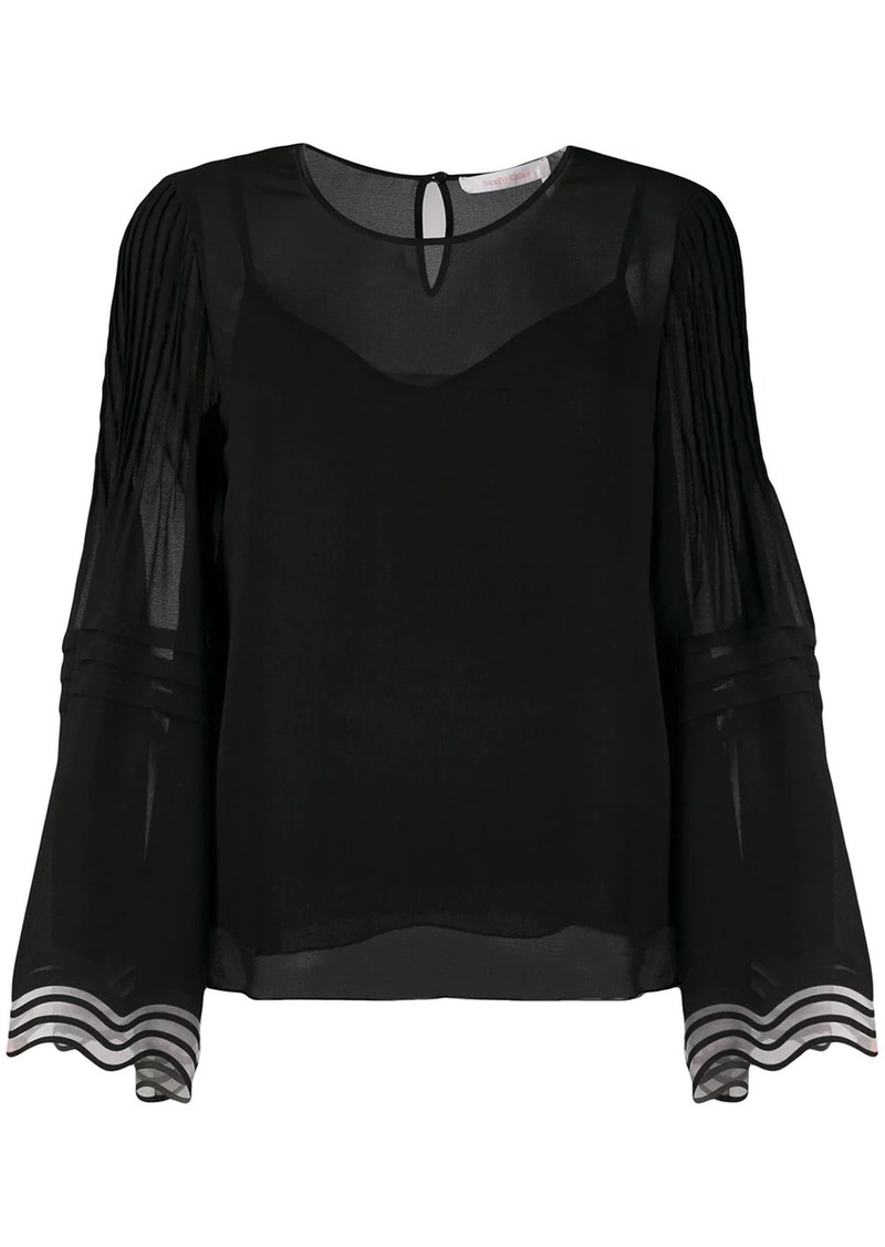 See by Chloé flared sleeve blouse