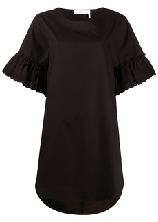 See by Chloé flared sleeve T-shirt dress