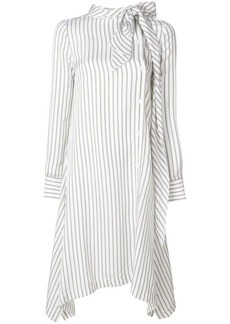 See by Chloé flared stripe shirt dress