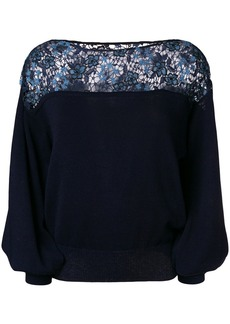 See by Chloé floral embroidered jumper