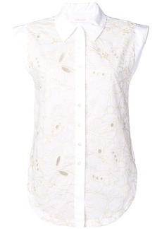 See by Chloé floral embroidered sleeveless blouse