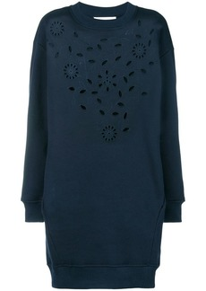 See by Chloé floral embroidered sweater dress