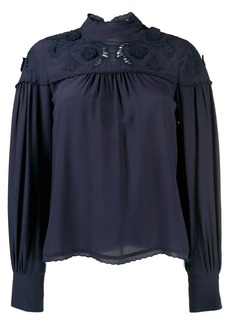 See by Chloé floral embroidery blouse
