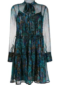 See by Chloé floral fireworks mini dress