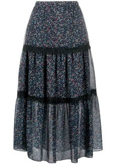 See by Chloé Floral Haze tiered skirt