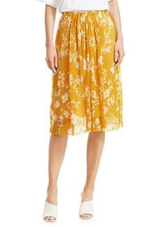 See by Chloé Floral Knit Midi Skirt