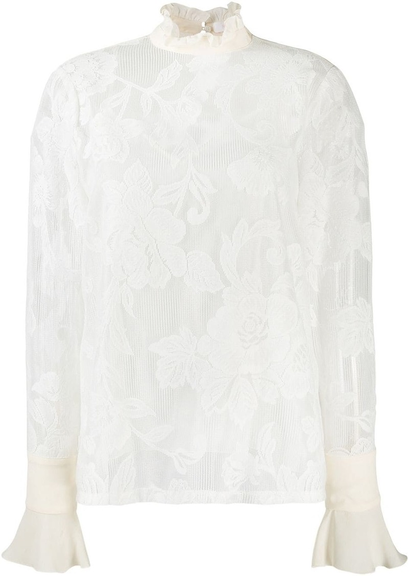 See by Chloé floral lace blouse