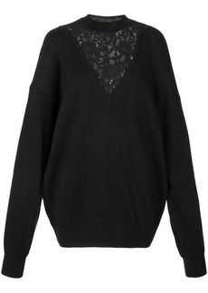 See by Chloé floral lace knitted jumper