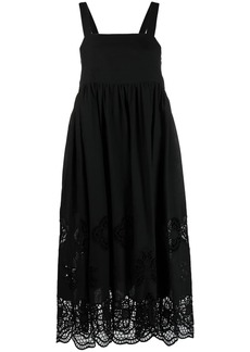 See by Chloé floral-lace scallop dress