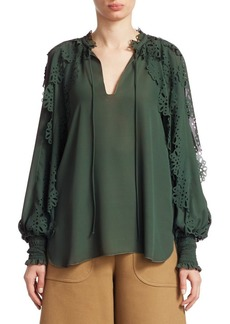 See by Chloé Floral Lace Top