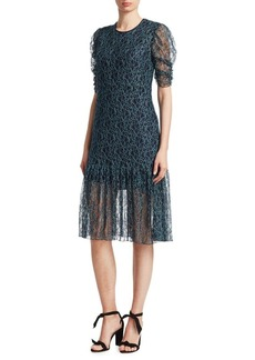 See by Chloé Floral Mesh Lace Dress