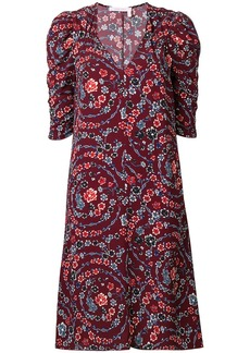 See by Chloé floral print ruched sleeves dress