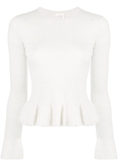See by Chloé flounced knit top