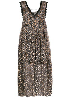 See by Chloé flower-print flared dress