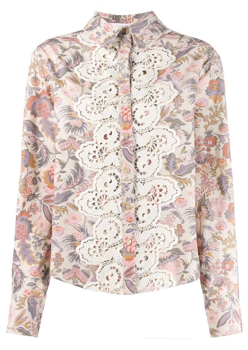 See by Chloé flower print shirt