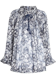 See by Chloé Flower Python Printed Blouse in Cotton and Silk