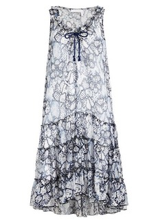 See by Chloé Flower Python Printed Dress in Cotton and Silk