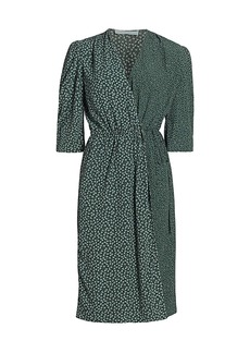 See by Chloé Flowers & Dots Printed Wrap Dress