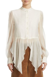 See by Chloé Flowy Button-Front Blouse