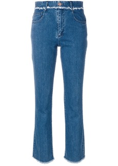 See by Chloé frayed trim jeans