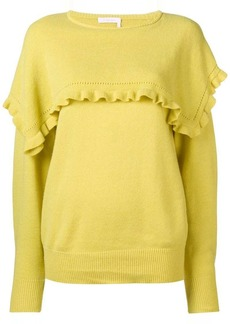 See by Chloé frill-trim fitted sweater