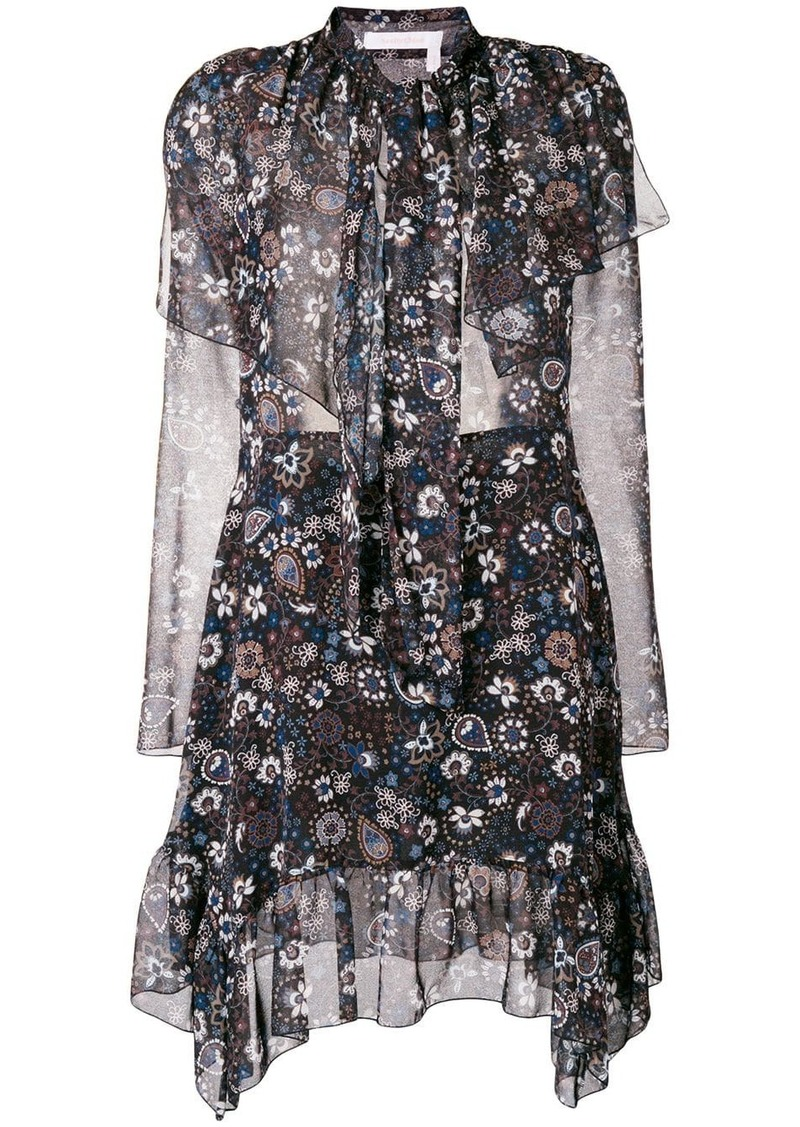 See by Chloé frilled longsleeved dress