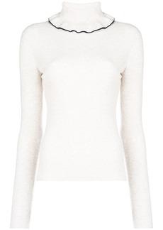 See by Chloé frilled turtleneck jumper