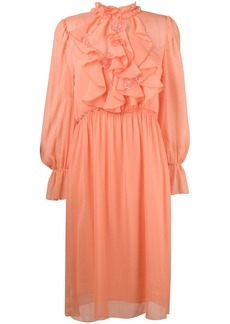 See by Chloé frilly midi dress