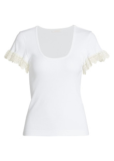 See by Chloé Fringe T-Shirt
