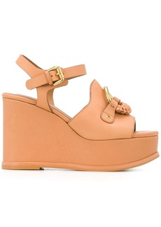See by Chloé front ring wedged sandals