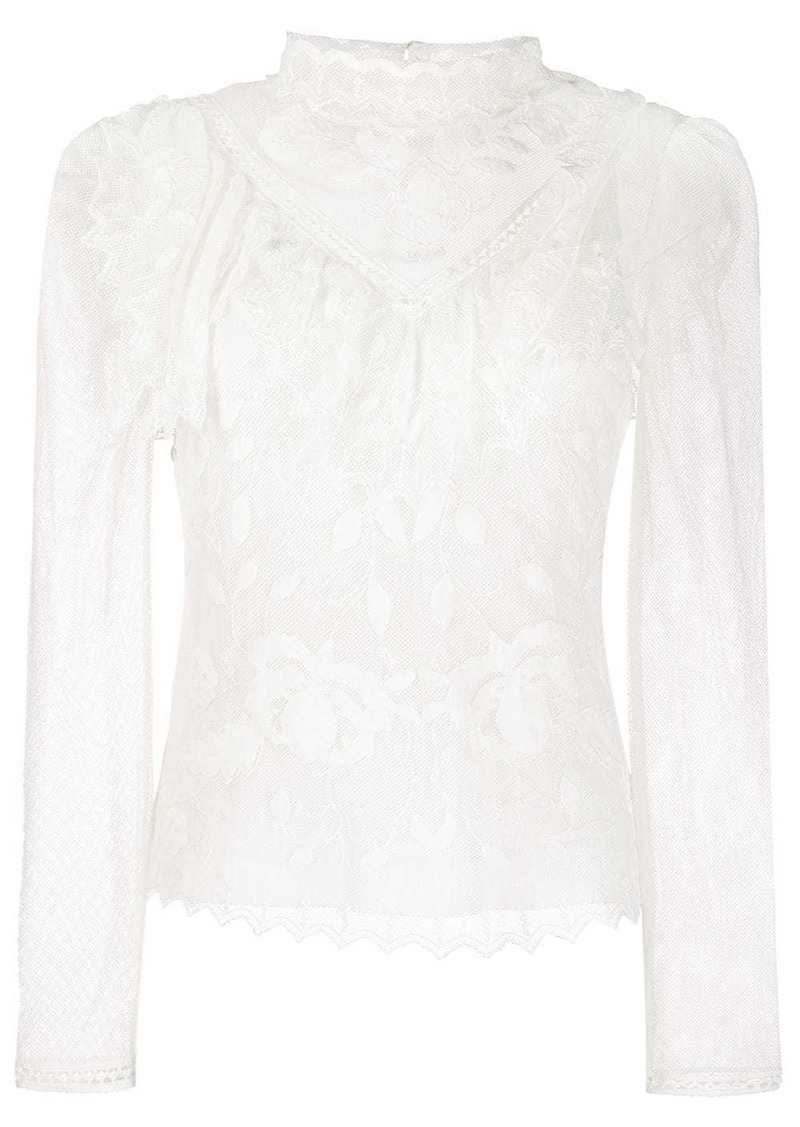 See by Chloé funnel neck lace blouse