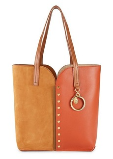 See by Chloé Gaia Colorblock Leather & Suede Tote