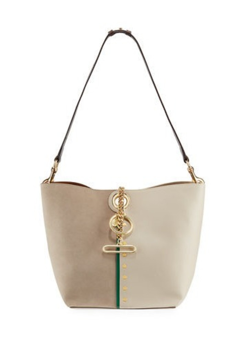 See by Chloé Gaia Leather and Suede Shoulder Bag